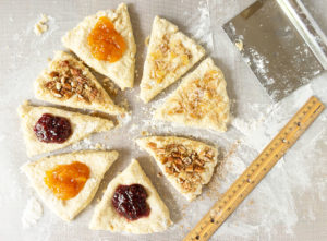 Scones cut and with toppings - How to make perfect scones