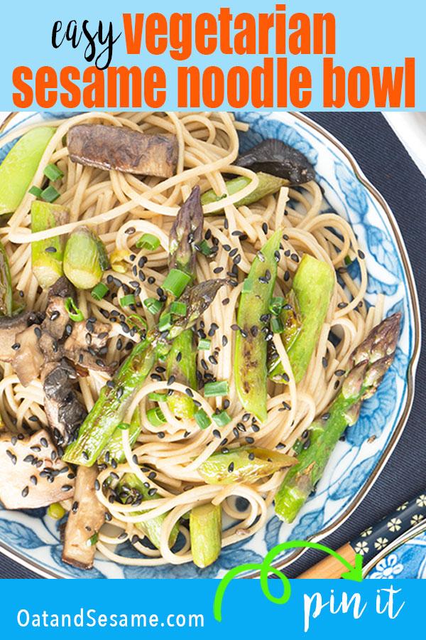 plate of sesame noodles