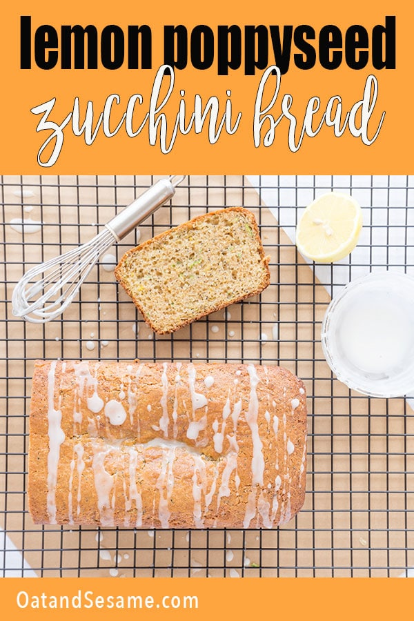HAVE YOU EVER BAKED WITH SPELT FLOUR? This recipes is a healthy twist on Zucchini Bread! Using a little spelt flour - this zucchini bread is lemony and full of whole grain goodness! #ZucchiniBreadRecipes | #SPELT | #HealthyRecipes at OatandSesame.com