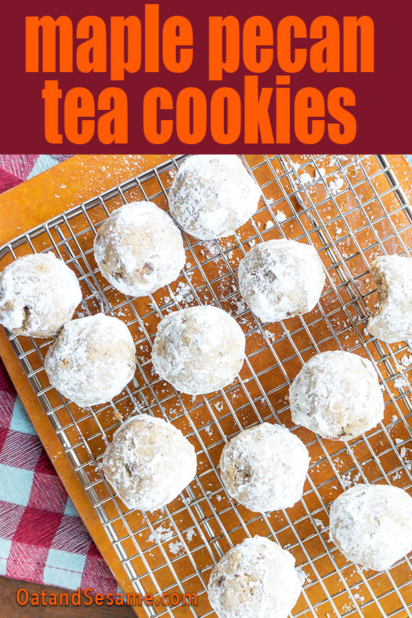 tea cookies with powdered sugar