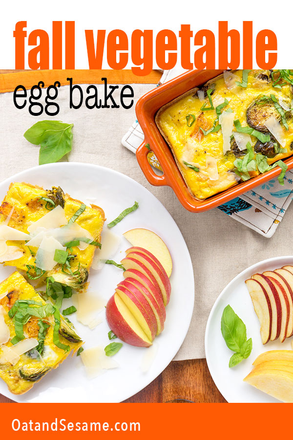 Vegetable Egg Casserole in small colorful dishes