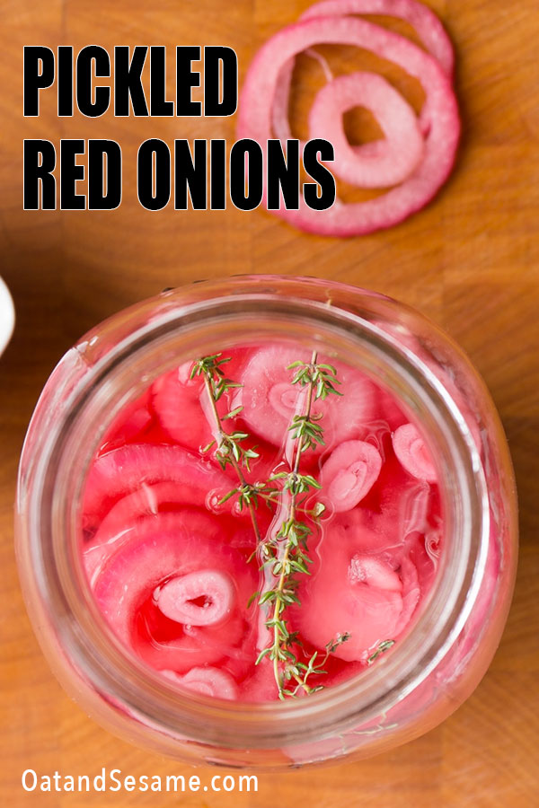 Pickled Red Onions in Jar
