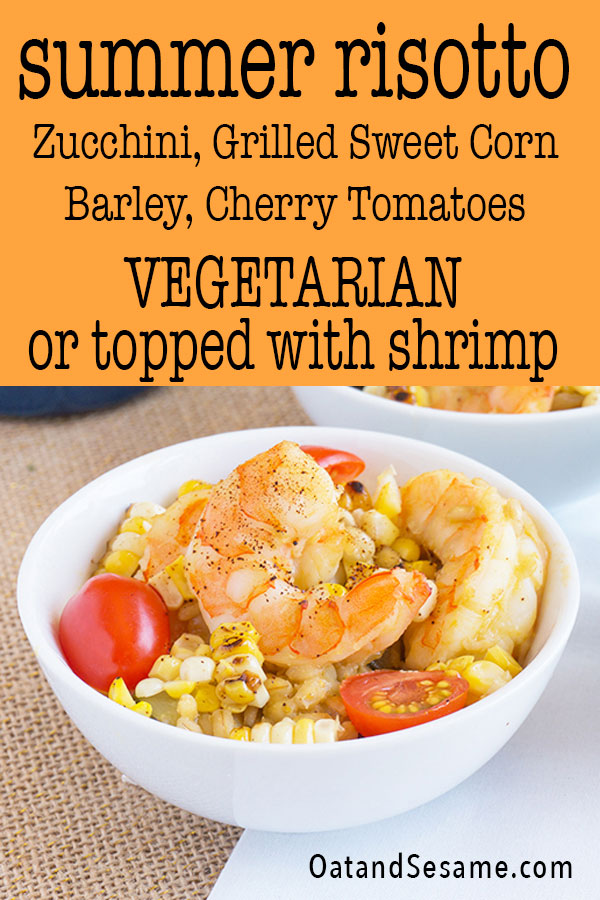 Zucchini + Sweet Corn Risotto with Shrimp