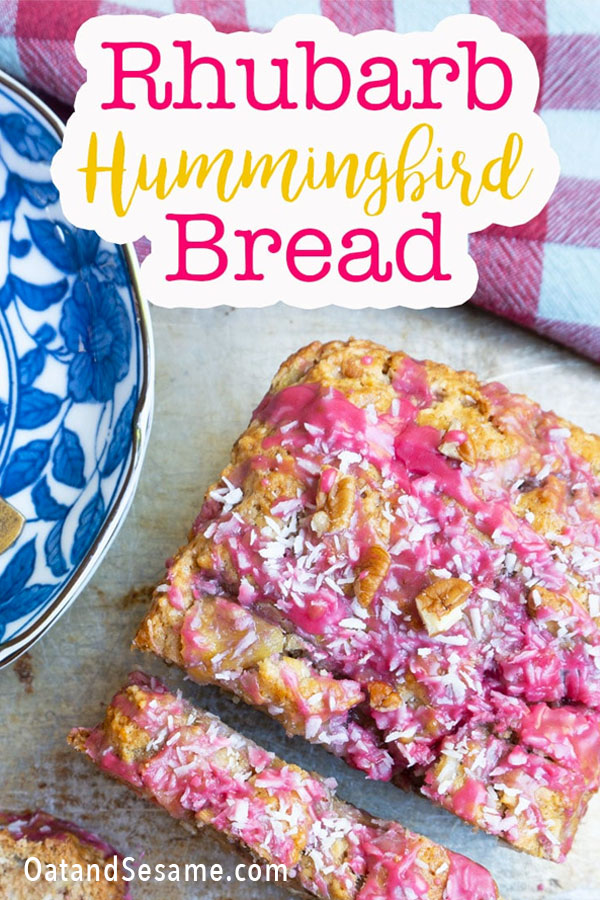 Rhubarb Bread with Hibiscus Frosting
