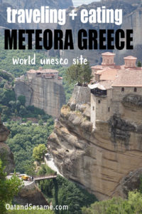 """Meteora means """"suspended in air"""" and this is exactly how these incredible 14th century monasteries appear.  #GREECE   #METEORA   #GREECETRAVEL   #TRAVELGREECE at OatandSesame.com #oatandsesame"""