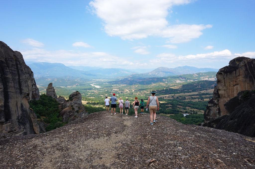 Hiking in Meteora