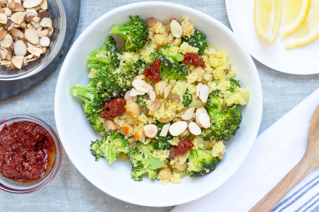 Vegan Broccoli Salad with Couscous