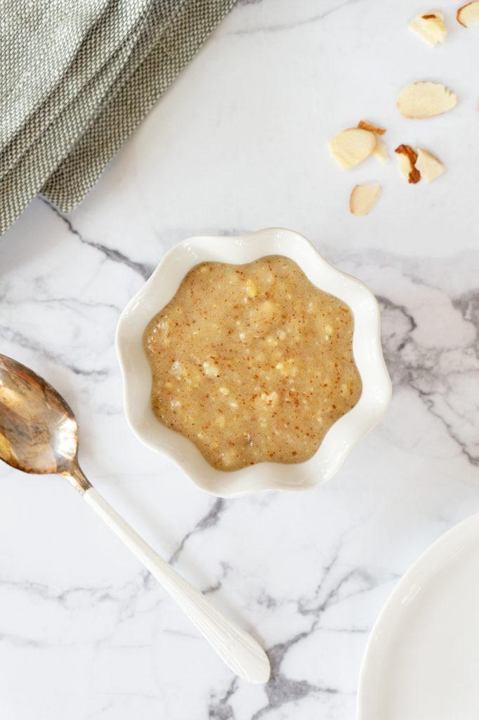 Almond Cream in a bowl
