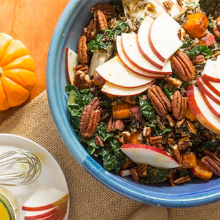 Apple, Kale + Wild Rice Salad
