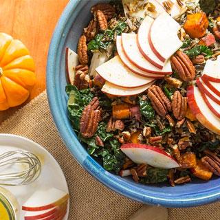 Apple, Kale + Wild Rice Salad