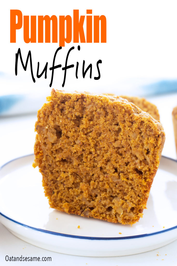 straight on view of pumpkin muffin