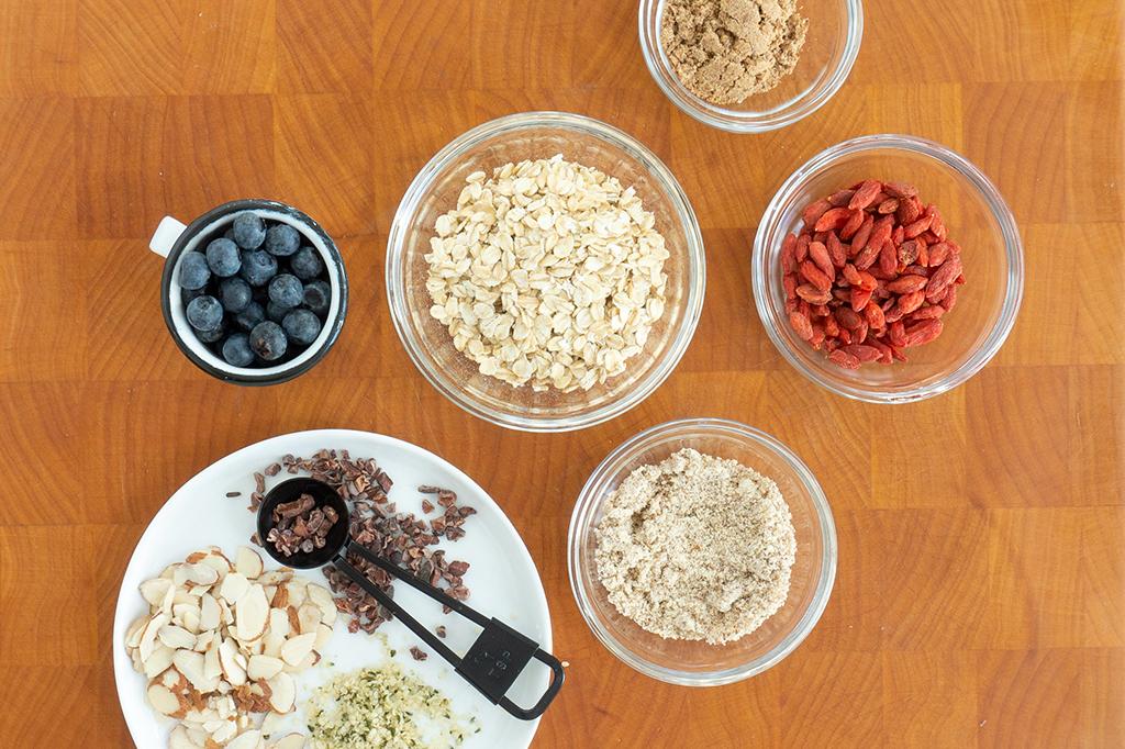 superfood oatmeal bowl ingredients